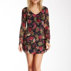 ASTR Long Sleeve Floral Mini Dress Size M